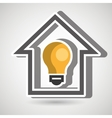 smart home with bulb isolated icon design vector image