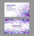 Square mosaic business card template set vector image vector image