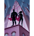 Superhero Couple 5 vector image vector image