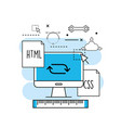 system programming technology with website code vector image