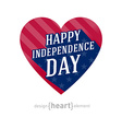 United States of America Independence Day heart vector image vector image