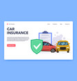 vehicles insurance responsible car insurance vector image