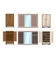 wardrobe and closet set vector image vector image