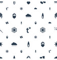 warm icons pattern seamless white background vector image vector image