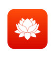 water lily flower icon digital red vector image vector image