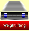 weightlifting realistic sport equipment vector image