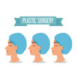 woman beafora and after of plastic surgery process vector image