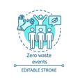 zero waste events concept icon nature saving vector image