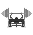 Bench Press Icon vector image