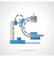 Diagnostic machine flat icon vector image