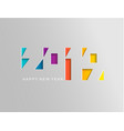2019 happy new year card in paper style vector image vector image