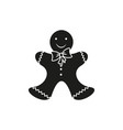 a christmas cookies in the black icon vector image vector image