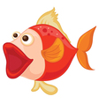 a red fish vector image vector image