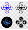 air copter eps icon with contour version vector image