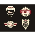 American football badge with cleats sport logo vector image vector image