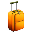 An orange baggage vector image vector image