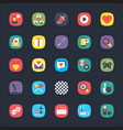app colored set vector image