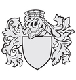 aristocratic emblem No37 vector image vector image