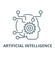 artificial intelligence line icon linear vector image