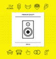 audio speaker icon graphic elements for your vector image vector image