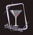 aviation cocktail vector image vector image