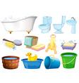 Bath set vector image vector image