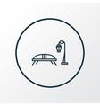 bench with streetlight icon line symbol premium vector image