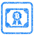 bitcoin diploma framed stamp vector image vector image