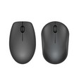 black realistic computer mouse vector image vector image