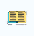 book education lesson study flat icon green and vector image