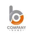 business corporate letter b logo design colorful vector image vector image