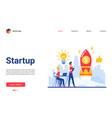 business startup cartoon flat vector image vector image