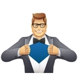 businessman superman vector image vector image