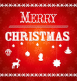 Christmas greeting card with the text Merry vector image