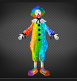 clown in circus party man funny jester character vector image