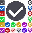 Color tick icon set vector image vector image