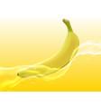 delicious juicy banana in spray of juice vector image