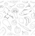 eco bio healthy food pattern vector image vector image