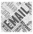 Email Autoresponders Word Cloud Concept vector image vector image