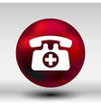 emergency call sign icon fire phone number button vector image vector image