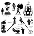 far future of human technology science fiction vector image