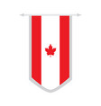 flag of canada on a banner vector image vector image