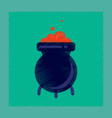 flat shading style icon cauldron witches potion vector image vector image