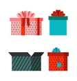 Gift open box icon vector image vector image