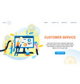 group people customer support worker vector image