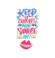 hand drawn dental lettering vector image