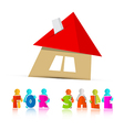 House For Sale Paper Icon Isolated on White vector image vector image