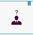 human with question icon simple user vector image vector image