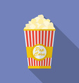 Icon of Popcorn Flat style vector image