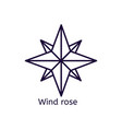 icon of wind rose on a white background vector image vector image